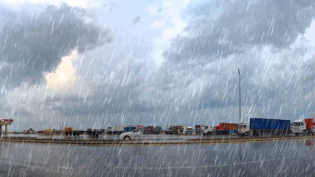 أمطار غزيرة على جازان