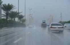 هطول أمطار غزيرة مصحوبة بزخات البرد على الباحة