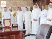 الغامدي يستقبل ادارة النور للإحتفال بفوز الفريق بالدوري والكأس